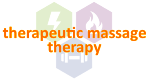 theraputic massage therapy button with shield